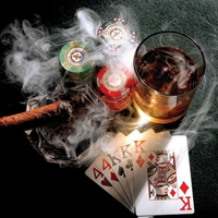 Poker og Whiskey smagning